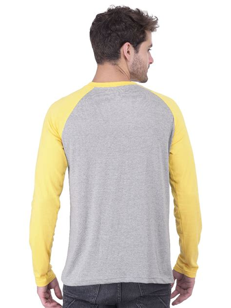 Bombay Home Decor nologo grey amp yellow raglan sleeves t shirt nologo fst