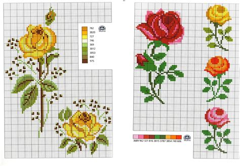fiori da ricamare grande raccolta di schemi e grafici per punto croce free