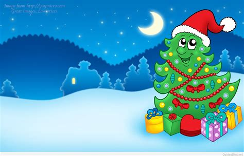 christmas wallpaper cartoons merry sayings quotes 2015
