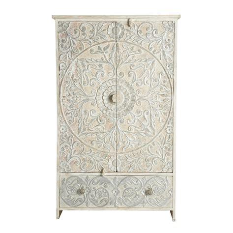 Nachttisch Orientalisch by Schrank Aus Massivem Mangoholz B 110 Cm Wei 223 Silbern