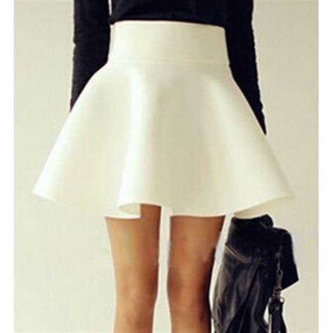 skirt high waisted white white skirt skater skirt