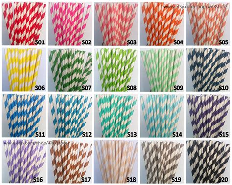 How To Make Paper Straw - 100 paper straws your color paper straws with free