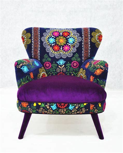 suzani fabric chair patchwork armchair with uzbek suzani fabrics by