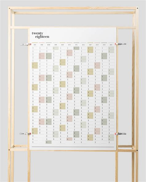 printable wall planner printable pdf a2 portrait wall planner 2018 year planner