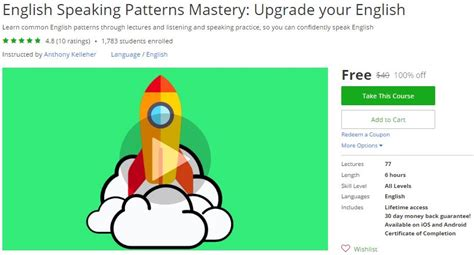 pattern english speaking udemy coupon english speaking patterns mastery upgrade