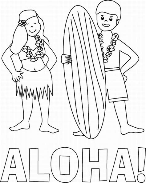 coloring page hawaii free coloring pages