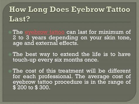 how long does it take to get tattoo removed ppt things to before get eyebrow procedure