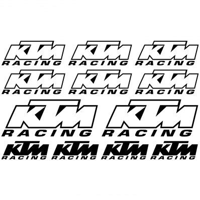 Racing Aufkleber Set by Wandtattoos Folies Ktm Racing Aufkleber Set
