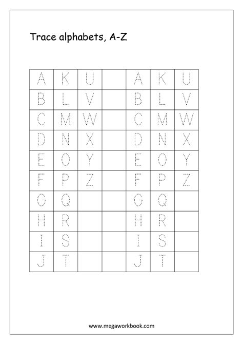 worksheets alphabet english free english worksheets alphabet tracing capital
