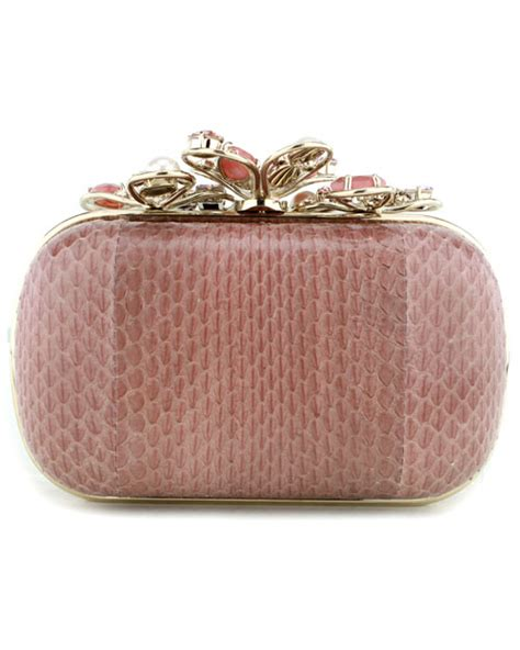 Ralph Jeweled Clutch by Ricci Jeweled Clutch In Pink Lyst