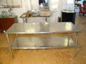 Metal Kitchen Island Tables Duparquet Range Company Stainless Steel Kitchen Island At
