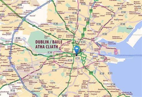 dublin map and dublin satellite image