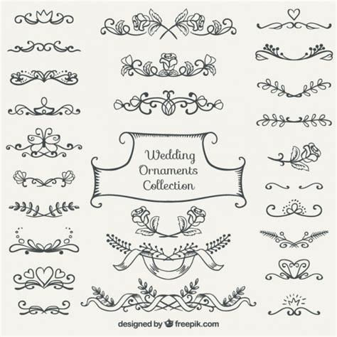 Wedding Ornaments by Wedding Ornament Collection Vector Free