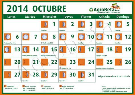 imagenes luzdary octubre 2014 calendario lunar para el mes de octubre de 2014 agrobeta