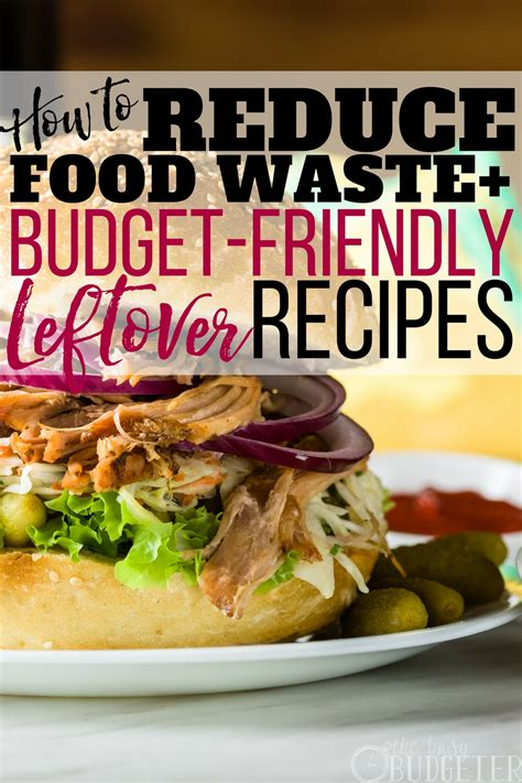how to reduce food waste at home budget friendly