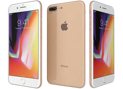 s8 3d apple iphone 8 plus gold cgtrader
