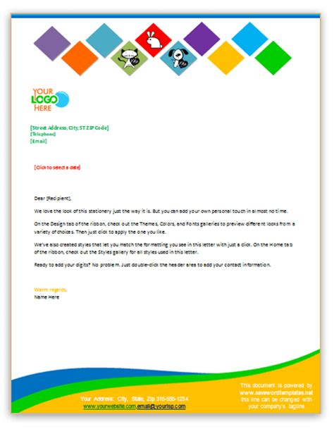 word letterhead template with logo professional letterhead can help you to promote your