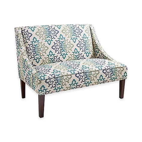 floral settee madison park avalon scroll floral loveseat settee bed