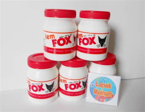 Lem Fox Putih Besar Perekat Kertas Kayu Best Jual Lem Fox Lem Putih Lem Kayu 150 Gram Lapak