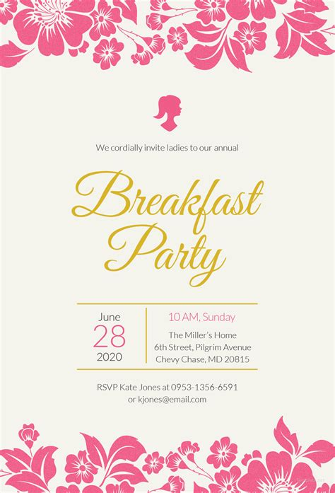 brunch invitation template free fantastic free brunch invitation template ideas entry