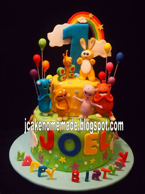 Baby Birthday Cake by Jcakehomemade Baby Tv Birthday Cake
