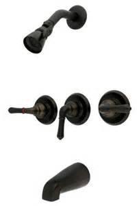 rubbed bronze 3 handle combination bathroom tub