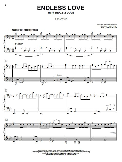 tutorial piano endless love endless love sheet music direct