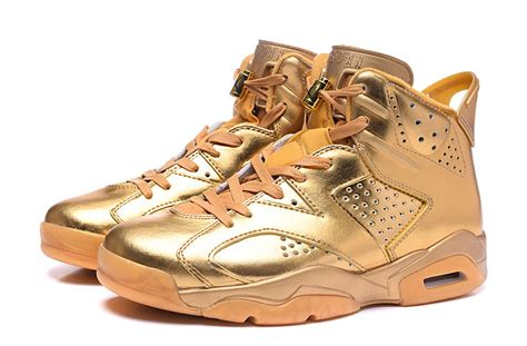 custom sneakers for sale 2016 new air 6 all gold custom shoes free shipping