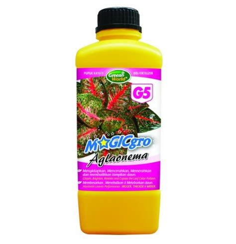 Harga Pupuk Cair Gro pupuk magicgro aglaonema g5 100 organic 1 liter