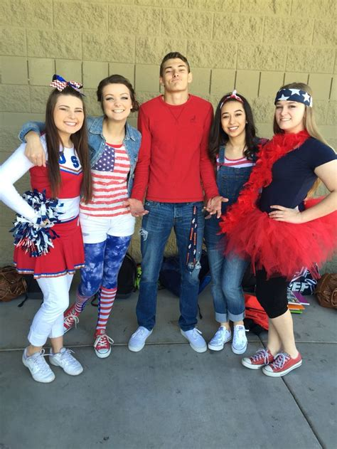 cute themes for homecoming week america day spirit day idea student council pinterest