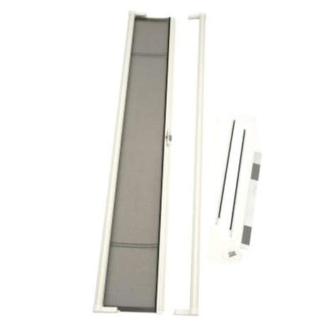 odl 36 in x 97 in brisa white retractable screen door brtlwe the home depot