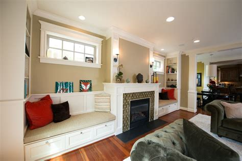 pictures of window seats in living room fireplace windows and window seat craftsman living