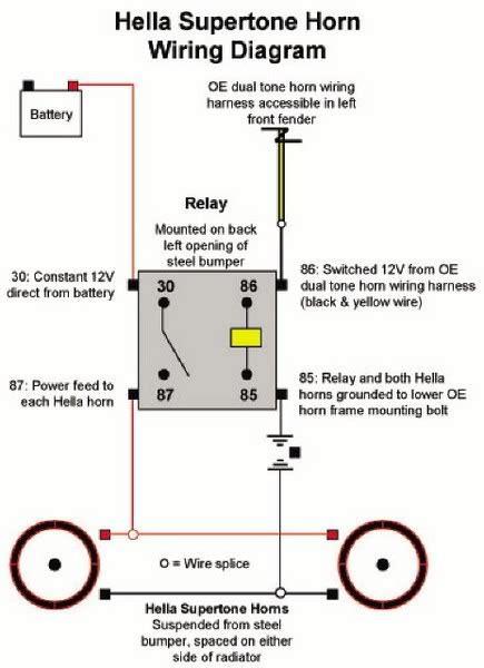 hella horn relay diagram hella relay diagram schematics wiring diagrams