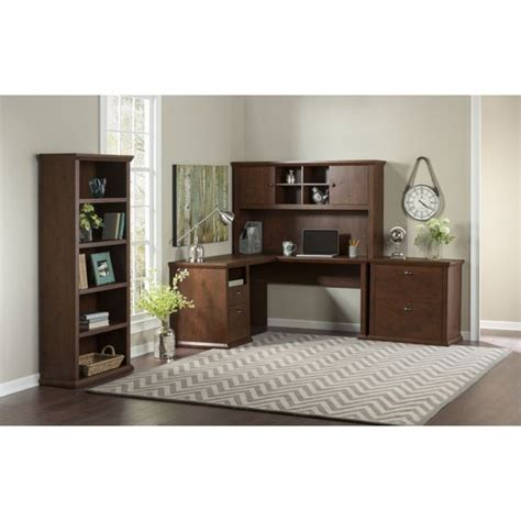 Bush Furniture Yorktown Collection 60w L Desk With Hutch Collection Desk With Hutch And Chair