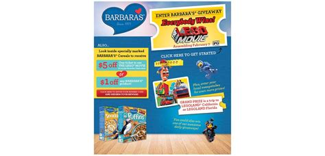 Barbara S Giveaway - barbarasgiveaway com barbara s the lego movie giveaway digital sweepstakes