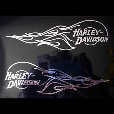 Harley Davidson Aufkleber Fürs Auto 2x aufkleber sticker harley davidson tank flamme 130 0291