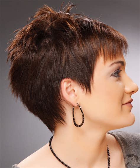 side and front view short pixie haircuts short straight casual pixie hairstyle