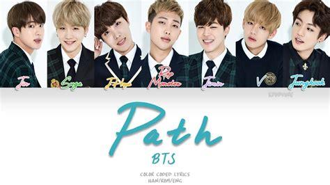 bts official color bts 방탄소년단 path color coded han rom eng lyrics chords