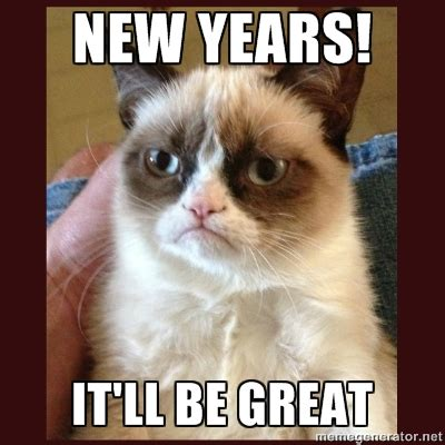 Grumpy Cat New Years Meme - what s going on monday new year s eve