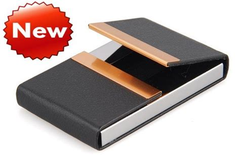 how to make a credit card holder free shipping sale leather metal trim business name