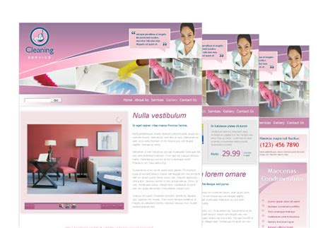 House Cleaning Maid Services Web Template Pack From Serif Com Cleaning Service Website Template