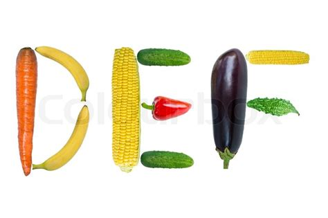 letter t vegetables letters deffrom fruits and vegetables stock photo
