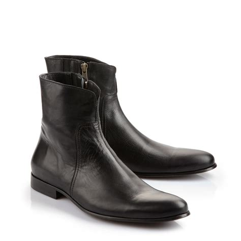 black leather boots mens buffalo plateau ankle boots for in black leather buy