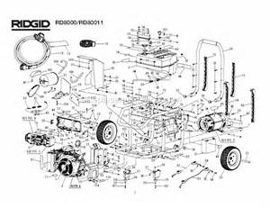 ridgid rd8000 parts list and diagram ereplacementparts com