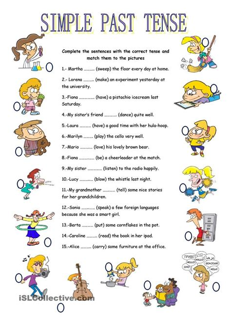 sentence pattern simple past tense 139 best past simple images on pinterest english grammar