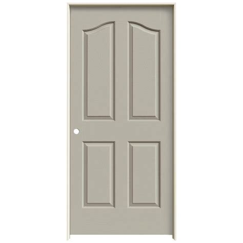 Jeld Wen Molded Interior Doors Jeld Wen 36 In X 80 In Molded Textured 4 Panel Eyebrow Desert Sand Hollow Composite