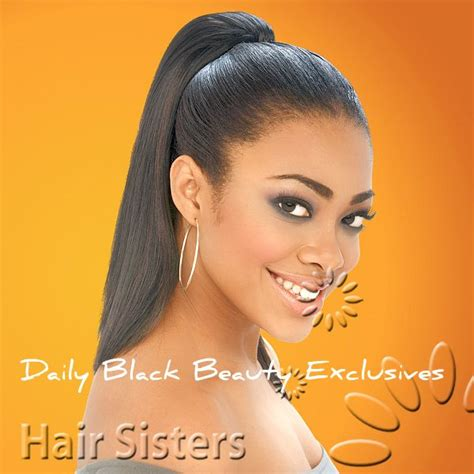 pony tail african american extension pin by c h on black women hairstyles hair extensions and