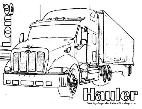 coloring page big truck semi truck coloring pages coloring pages pictures