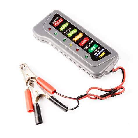 Tirol Tester Baterai Digital 12v 6 Led tirol 12v car battery alternator tester diagnostic digital 6 led display ma494 ebay
