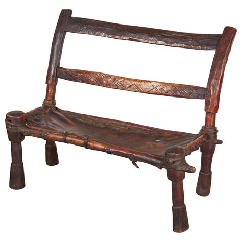 old wooden benches for sale antique wood and leather bench with great patina and clean lines for sale at 1stdibs